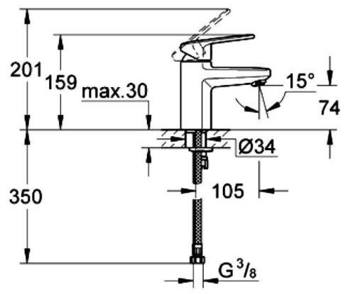 Смеситель для умывальника Grohe Europlus II (33163002)
