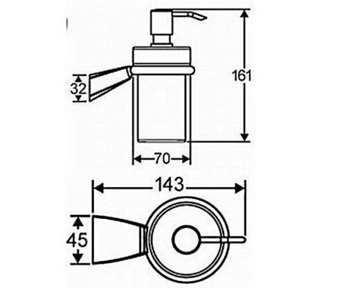 Дозатор жидкого мыла HANSAMIX (54300900)