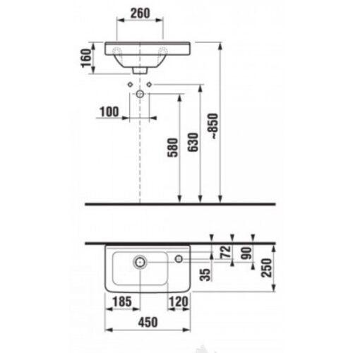 Мини-умывальник Jika Cubito 45 (8.1142.4.000.106.1)