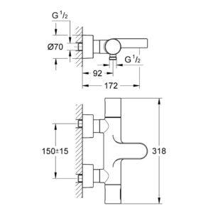 Термостат для ванны Grohe Grohtherm 3000 Cosmopolitan DN 15 (34276000)