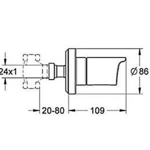 Панель скрытого вентиля Grohe Grohtherm 2000 (19243001)