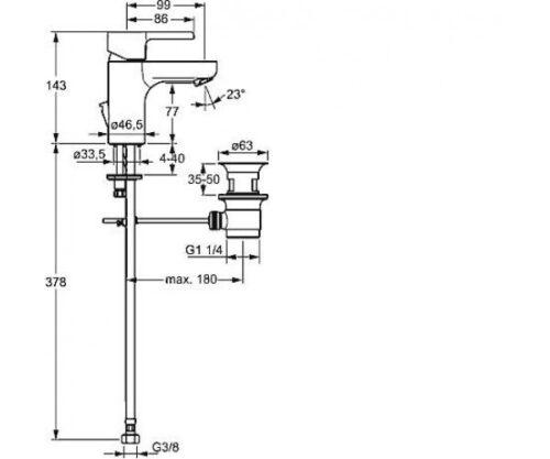 Смеситель для раковины Hansa FORM (49092203)
