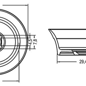 Умывальник Riho Barca F70022 из литого мрамора