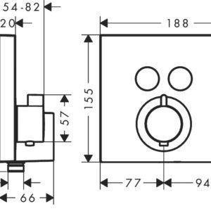 Термостат для душа HANSGROHE Shower Select (15765000)