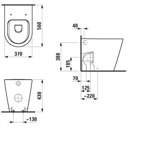 Унитаз напольный Laufen Kartell H8233360000001 с сиденьем Soft Close