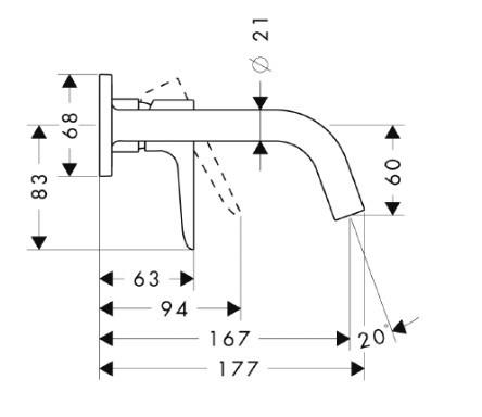 Смеситель для раковины однорычажный HANSGROHE Axor Citterio M (34113000)