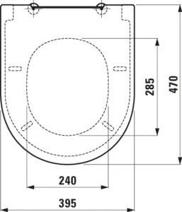 Сиденье для унитаза  New Classic Soft Close 9185.1