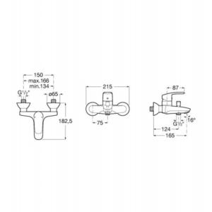 Смеситель на ванну Monodin-N A5A0298C00 Roca