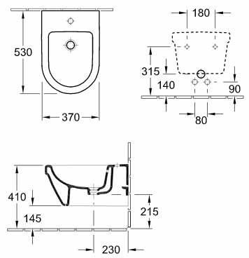 Биде подвесное Villeroy & Boch Architectura Design (54840001)