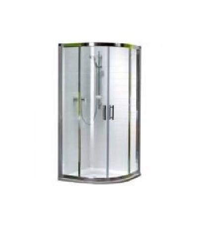 KOLO GEO 6 кабина полукруглая 80*80 см , (1-2 и 2-2) двери раздвижные, стекло PRISMATIC