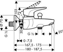 Смеситель для ванны, однорычажный HANSGROHE Metropol E (14470000)