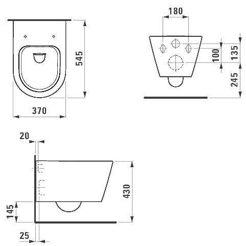 Унитаз подвесной Kartell by Laufen LCC (8.2033.1.400.000.1)