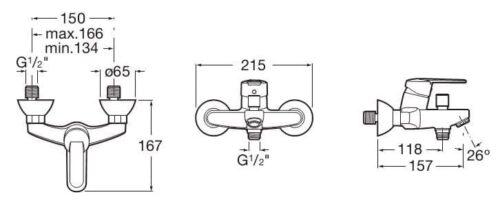 Змішувач на ванну Roca VICTORIA A5A0225C00