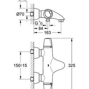 Смеситель-термостат для ванны Grohe GROHTHERM 3000 (34185000)