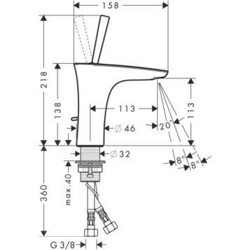 Смеситель для раковины однорычажный HANSGROHE PuraVida (15074400)
