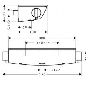 Термостат для душа HANSGROHE Ecostat Select (13161000)