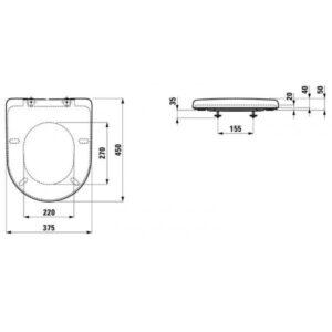 Сиденье для унитаза Laufen Pro New H8939590000001