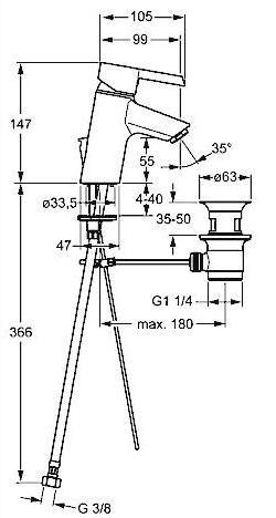 Смеситель для раковины Hansa PINTO (45042203)