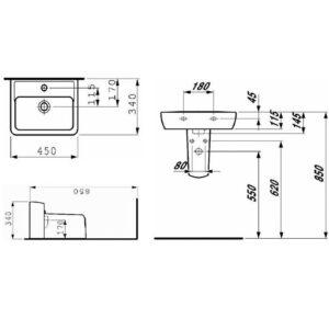 Міні умівальник Laufen-PRO А 45 см. (8.1195.1.000.104.1)