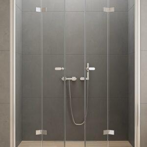 Душевая дверь New Trendy NEW SOLEO двойная складная (170×195)