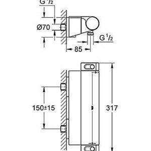 Термостат для душа Grohe Grohtherm 2000 NEW DN 15 (34469001)