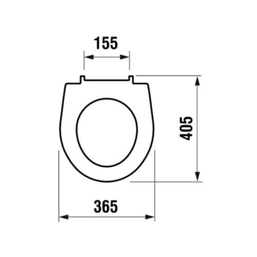 Сиденье для унитаза Jika Lyra Plus-Tigo (H8933843000631)