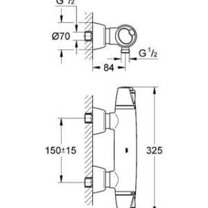 Grohe GROHTHERM 3000 смеситель-термостат для душа  (34179)