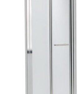 KOLO GEO6 двери в нишу bifold 80 см, стекло PRISMATIC, профиль серебряный блеск