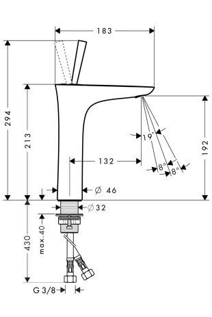 Смеситель для раковины однорычажный HANSGROHE PuraVida (15081400)