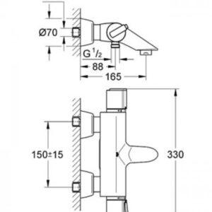Смеситель-термостат для ванны Grohe GROHTHERM-2000 (34174000)