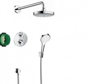 HANSGROHE ShowerSet Croma Select S-Ecostat S Душевой набор (верхний, ручной душ, ibox, термостат) (27295000)
