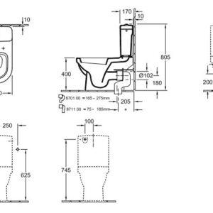 Чаша унитаза Villeroy & Boch Architectura (56771001)