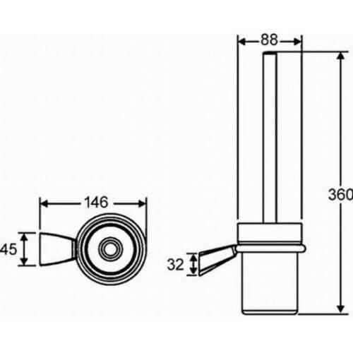 Туалетный ершик  HANSAMIX (54250900)