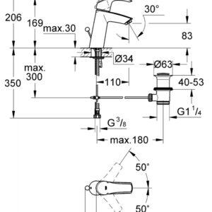 Смеситель для умывальника Grohe Eurosmart M-Size (23322001)