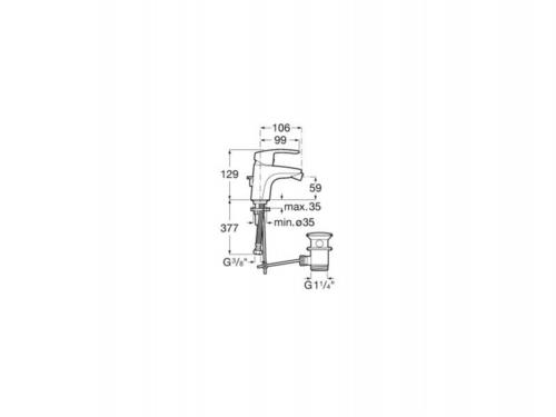 Смеситель для биде ROCA Monodin-N (A5A6098C00)