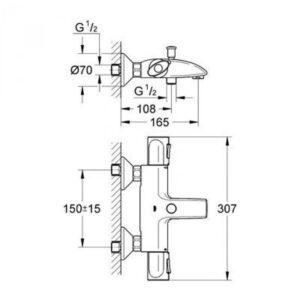 Термостат для ванны Grohe Trend (34227000)