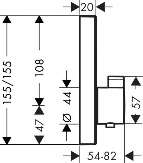 Термостат для душа HANSGROHE Shower Select (15763000)