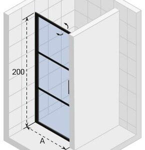 Душевая дверь RIHO GRID GB101800 x 2100 x 2100