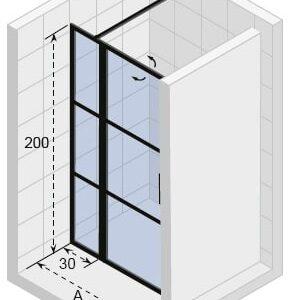 Душевая дверь RIHO GRID GB1041100 x 2100 x 2100