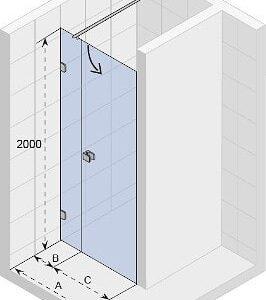 Душевая дверь Scandic Soft Q102 880×2000 GQ0702001