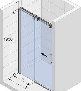 Душевая дверь OCEAN 100 GU0404100