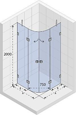 Душевая кабина SCANDIC LIFT M309 90x90x200