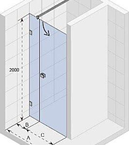 Душевая дверь SCANDIC MISTRAL M102-90 L