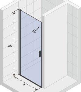 Душевая дверь NOVIK Z101 780×2000