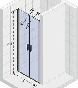 Душевая дверь NOVIK Z111 880×2000