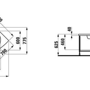 Ванна акриловая угловая Laufen Solutions 140х140 H2425010000001