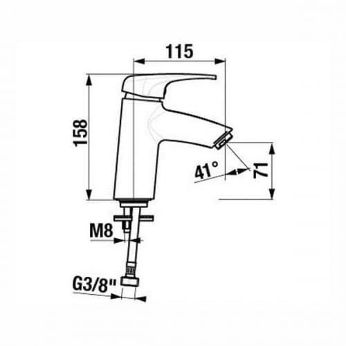 Jika Olymp Deep H3111U10041101 смеситель для умывальника высокий