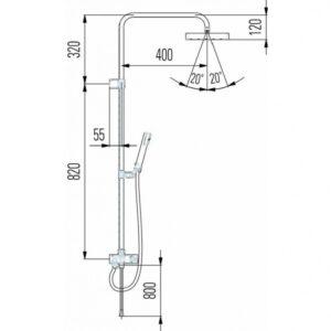 Душевая система H3352170042641 Laufen Quadriga