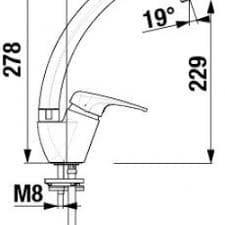 Смеситель кухонный JIKA OLYMP H3511U10042601 высокий