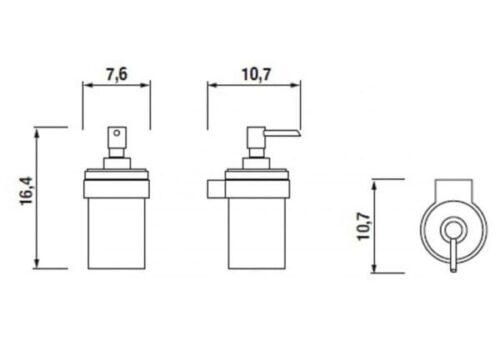 Дозатор для жидкого мыла JIKA Pure, H3833B20041001